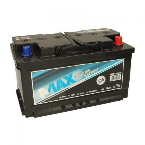 Akumulator 4MAX 0608-03-0018Q  80 Ah Akumulator 4MAX 80 Ah
